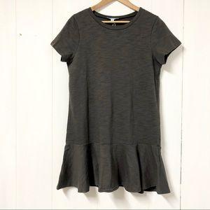She + Sky Grey T Shirt Peplum Shift Dress NWT